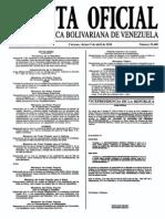 Sumario Gaceta Oficial 39.400