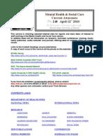 Mental Health Bulletin 248 April 12th 2010