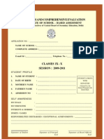Report Card CCE CARD
