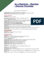 Física - Dicas Fórmulas I