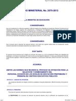 Infile - Acuerdo Ministerial 2575-2013
