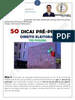 50 Dicas TRE_Paraíba