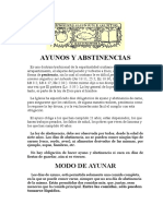 Ayunos y Abstinencias