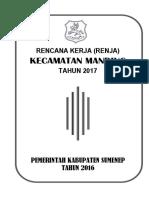 Renja 2017 Kecamatan Manding