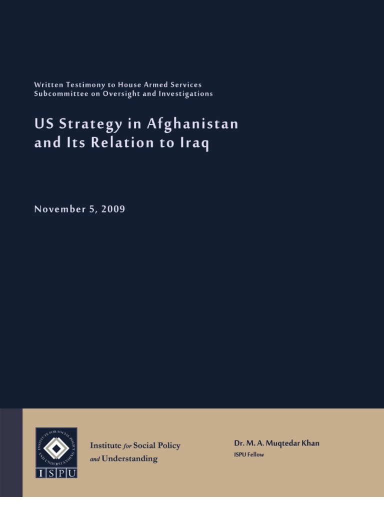 us strategy in afghanistan and its relations with iraq