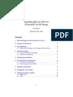 Installing TeX Live 2015 on PCLinuxOS via ISO Image