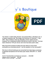 Intro Financial Accounting Marys Boutique Case