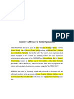 Commercial Property Rental Agreement Format