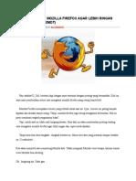 Cara Mengatasi Mozilla Firefox Agar Lebih Ringan Dan Cepat