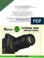 Pentax 6x7 Extension Tubes