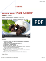 Black Beef Nasi Kandar