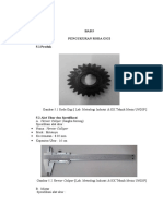 Praktikum Metrologi Roda Gigi