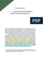 Pensamiento post-keynesiano y pensamiento marxista