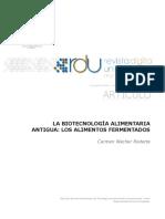 La Biotecnologia Alimentaria Antigua. Carmen Wacher