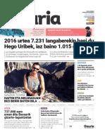 016. Geuria aldizkaria - 2016 otsaila