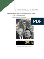 Russian Spy Ring; Obama-Hillary-Bill or How Putin Rules USA.M.Kryzhanovsky