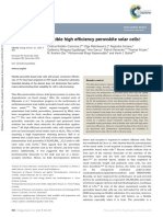 Flexible High Efficiency Perovskite Solar Cells
