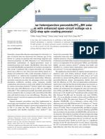 Planar Heterojunction PerovskitePC71BM Solar Cells With Enhanced Open-circuit Voltage via a (21)-Step Spin-coating Process