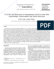 A review and discussion of management control in interfirm relationships