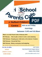 Parents Cafe Feb 2016