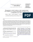 Management control systems as interorganizational trust builders in evolving relationship