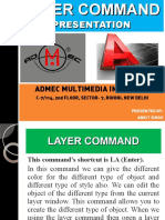 Layer Command in AutoCAD