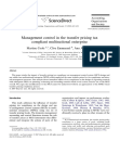 Management control in the transfer pricing tax compliant multinational enterprise