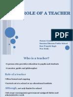 Role of a Teacher