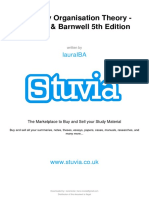 Stuvia 82263 Summary Organisation Theory 198759 Stuvia