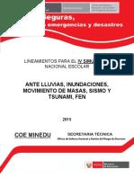 Lineamientos Simulacro Nacional Escolar 2015