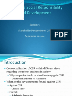 Session 3 Stakeholder Perspective & CSR 22-09-14