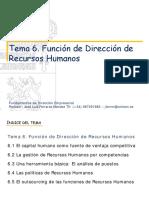 TEMA 6_La Funcion de Recursos Humanos