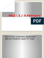 HA2 - 3, 4 February
