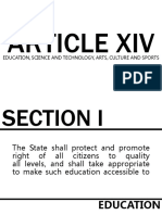 Philippine Constitution Article Xiv Section 1-3