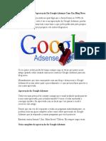 Como Conseguir Aprovação Do Google Adsense Com Um Blog Novo