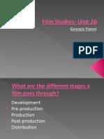 film studies- unit 26