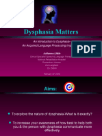 Dysphasia