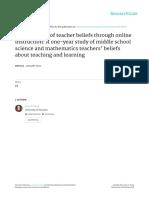 Wong_Development of Teacher Beliefs Through Online Instruction