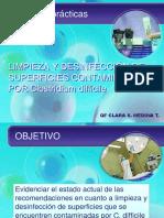 Limpieza y Desinfección de superficies contaminadas con Clostridium difficile