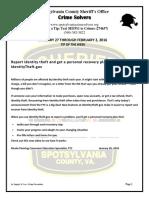 Crime Solvers Report 1-27 THRU 2-2-2016