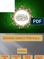 Solvents Used in Pharmacy