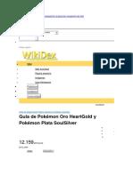 Guía Pokémon Plata nuevo