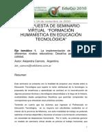Formacion Humanistica en Educacion Tecnologica