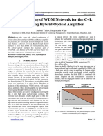 3 IJAEMS-JAN-2016-9-Gain Flattening of WDM Network for the C+L Band using Hybrid Optical Amplifier