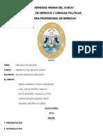 Derecho de Obligaciones de Dar Trabajo Grupal Oficial