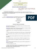 Decreto 1535/77 altera CLT Férias