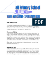 Newsletter Spring 2016 Year 6