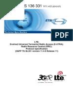 ETSI - RRC Protocol Specification