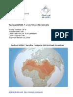 Arabsat Satellite Footprints BADR 7