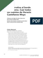 """Celina Manzoni, """"Una narrativa al borde del abismo. Casi todos los cuentos de Horacio Castellanos Moya"""""""